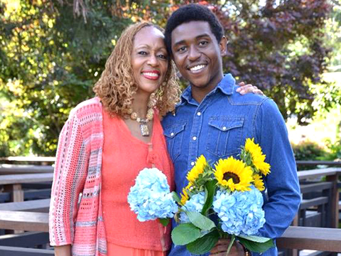 Book-Launch-Mother-&-Son-Embracing-Art,-Affirmations-&-Authenticity